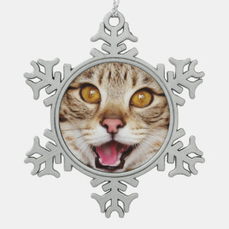 王位のクリスマスのスマイルの装飾 ピューター製スノーフレークオーナメント