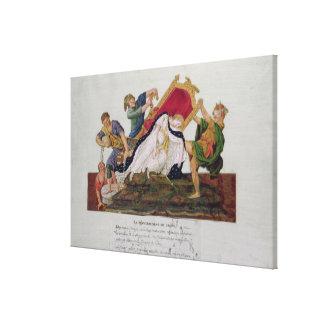 王位の転覆のアレゴリー キャンバスプリント