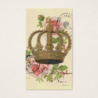 王冠およびバラ 名刺