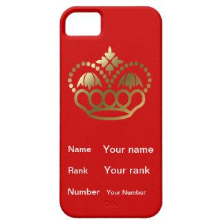 王冠および名前のランク、赤い背景との数 iPhone SE/5/5s ケース