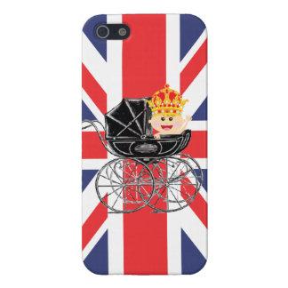 王冠および英国国旗を持つ王室のなベビー iPhone SE/5/5sケース