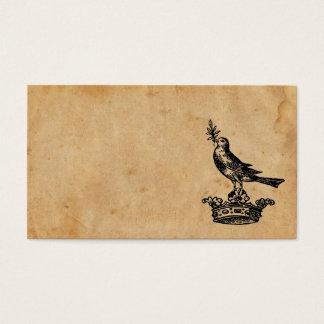 王冠および鳥の名刺 名刺
