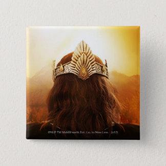 王冠が付いている頭部の背部 5.1CM 正方形バッジ