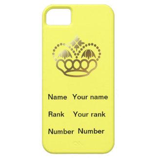 王冠が付いている黄色い背景、名前; 臭い数 iPhone SE/5/5s ケース