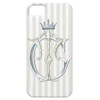 王冠が付いているTCまたはCTのモノグラム iPhone SE/5/5s ケース
