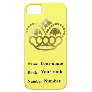 王冠との名前、ランクおよび数、 iPhone SE/5/5s ケース