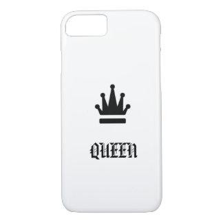 王冠のモノクロデザインの女王 iPhone 8/7ケース