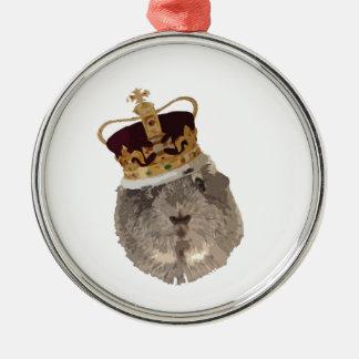 王冠のモルモット メタルオーナメント