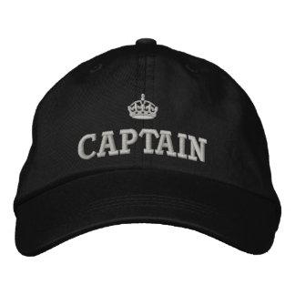 王冠のロゴの大尉 刺繍入りキャップ