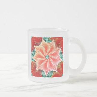 王冠の珊瑚 フロストグラスマグカップ