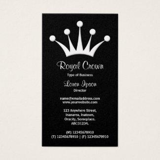 王冠の記号-黒(金ゴールド) 名刺