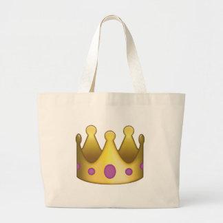 王冠のemoji ラージトートバッグ