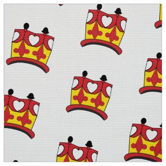 王冠はポリエステルヤードのブラウンの生地をからかいます ファブリック