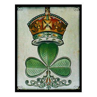 王冠及びシャムロックの郵便はがき ポストカード