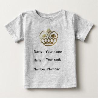 王冠、名前、ランク、数、ベビーの灰色 ベビーTシャツ