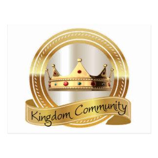 王国のコミュニティ王冠 ポストカード