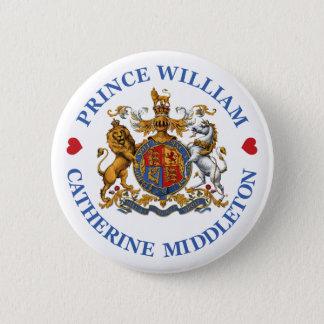 王子のウィリアムおよびキャサリンMiddleton結婚式 5.7cm 丸型バッジ