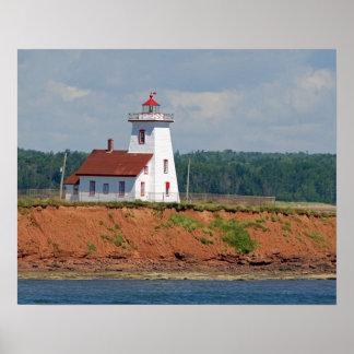 王子のエドワード北のUmberlandの灯台 ポスター