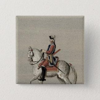 王子のチャールズ乗馬のポートレート 5.1CM 正方形バッジ