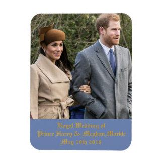王子のハリー及びMeghan Markle王室のな結婚式 マグネット