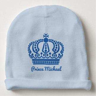 王子の名前をカスタムするの乳児の帽子 ベビービーニー