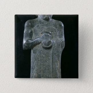 王子のGudea、紀元前のc.2150彫像 5.1cm 正方形バッジ