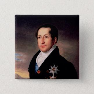 王子のSergej Golitsynのポスト1828年ポートレート 5.1cm 正方形バッジ
