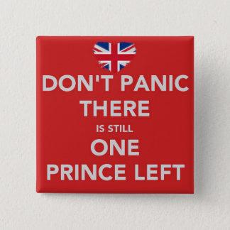 王子は-王室のな結婚式-パニックに陥りません 5.1CM 正方形バッジ