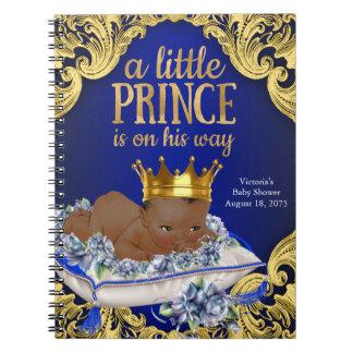 王子ベビーシャワーの来客名簿 ノートブック