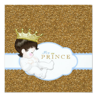 王子ベビーシャワー 13.3 スクエアインビテーションカード