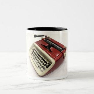 王室のでカスタムな(サファリの)タイプライター ツートーンマグカップ