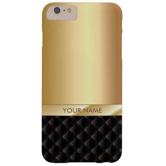 王室ので贅沢な金ゴールドの名前をカスタムする BARELY THERE iPhone 6 PLUS ケース