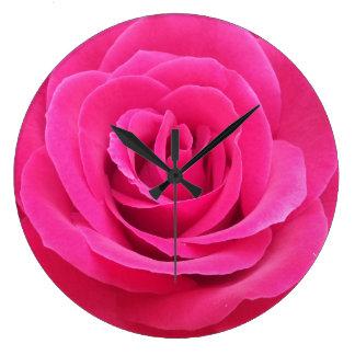 王室ので赤いバラ ラージ壁時計