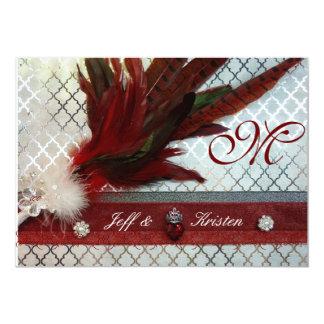王室ので赤い結婚式招待状 カード