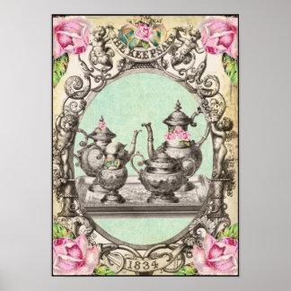 王室のなお茶会の芸術のプリント ポスター
