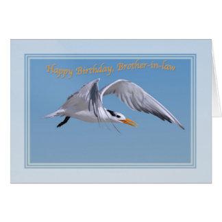 王室のなアジサシの鳥との義理の兄弟の誕生日 カード