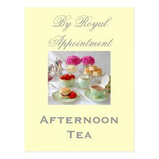 「王室のなアポイントメント」のによる午後のお茶の郵便はがき ポストカード