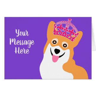 王室のなコーギーのカスタムな挨拶 カード