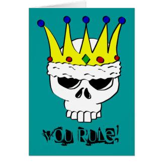王室のなスカルカードテンプレート カード