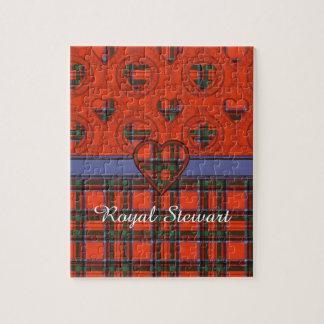 王室のなステュワートの一族の格子縞のスコットランド人のタータンチェック ジグソーパズル