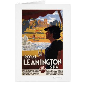 王室のなスパ、女性の飲料水の柵ポスター カード