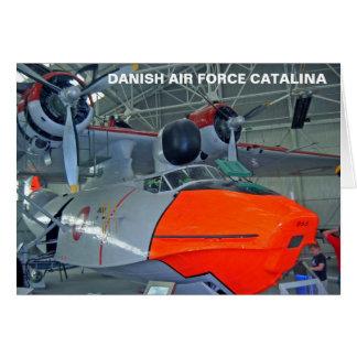 王室のなデンマーク空軍CATALINA カード