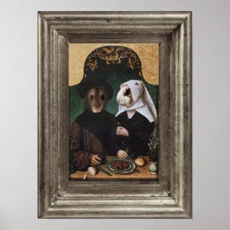 王室のなハムスターの家族によって組み立てられるポートレートポスター ポスター