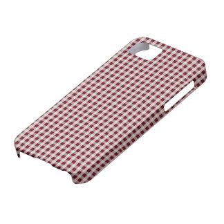 王室のなバラの赤いギンガムの点検の格子縞パターン iPhone SE/5/5s ケース