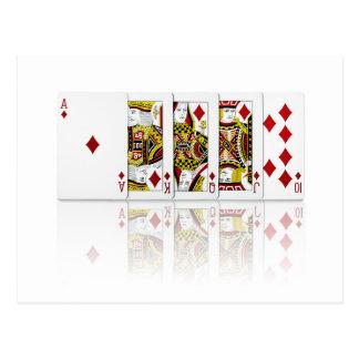 王室のなフラッシュダイヤモンド ポストカード