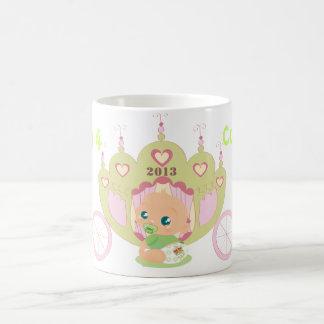 王室のなベビーは記念するマグの緑、Kateの コーヒーマグカップ