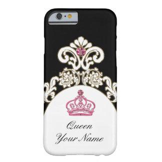王室のなモノグラムの君主制の王冠 BARELY THERE iPhone 6 ケース