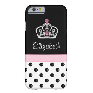 王室のなモノグラムの王冠の偽造品の宝石 BARELY THERE iPhone 6 ケース