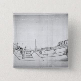 王室のなヨット「Mary 5.1cm 正方形バッジ