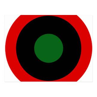 王室のなリビアの空軍Roundel (1951-1969年) はがき